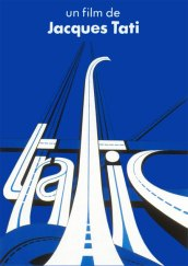 """Poster printed by Lalande-Courbet for the film """"Trafic"""" (1971) directed by Jacques Tati"""