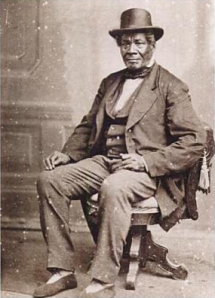 George Bonga in his retirement, from Making Minnesota Territory, 1849-1858. St. Paul, MN: Minnesota Historical Society.