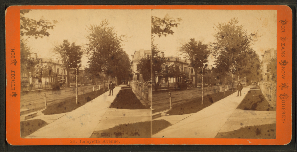 Lafayette Avenue, Detroit, circa 1880. Wikimedia Commons, Robert N. Dennis Collection of Stereoscopic Views.