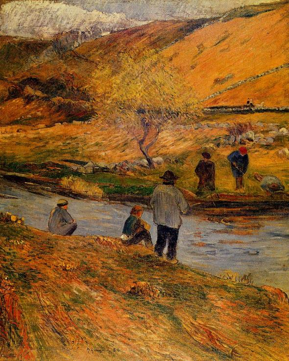 Breton Fishermen, Paul Gauguin, 1888. Wikipaintings.org