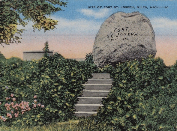 Postcard from Fort St. Joseph, Michigan
